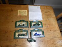 Collection of 4 boxed and 1 unboxed Lledo Days Gone die-cast vehicles