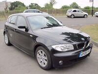 2005 BMW 120i SE 6 speed Manual, Full Black leather Interior, Genuine mileage, Long MOT.....