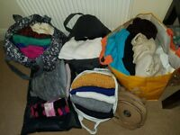 Size 8/10 ladies clothes bundle. Mostly blazers, jackets, jumpers, scaves and coats.