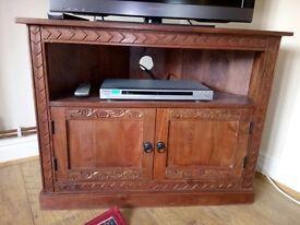 Carved TV corner unit