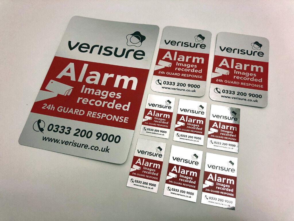 Verisure Alarm Set Of 9 Original Stickerslabels In Kingston London Gumtree