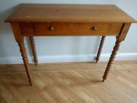 Solid wood table perfect for restoration project