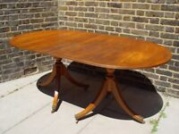 FREE DELIVERY Vintage Extendable Dining Table Retro Furniture