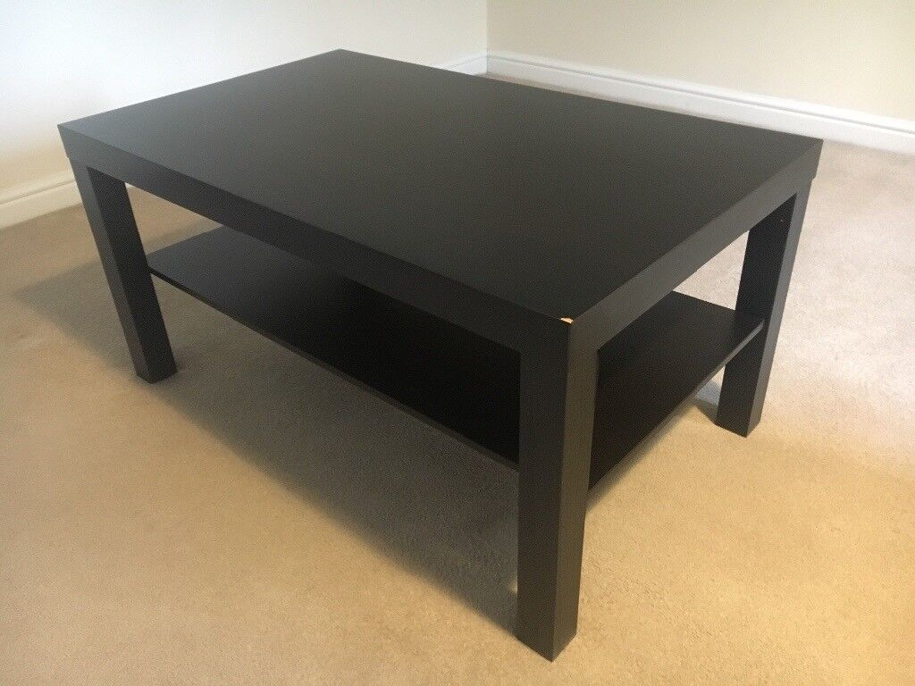 Black Brown Ikea Lack Coffee Table