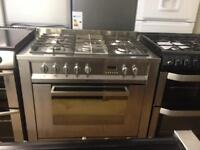 Silver 90cm gas cooker (Duel fuel)