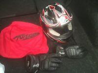 Agv racing bike helmet RST gloves