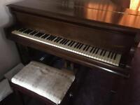 T D'Almaine Baby Grand Piano