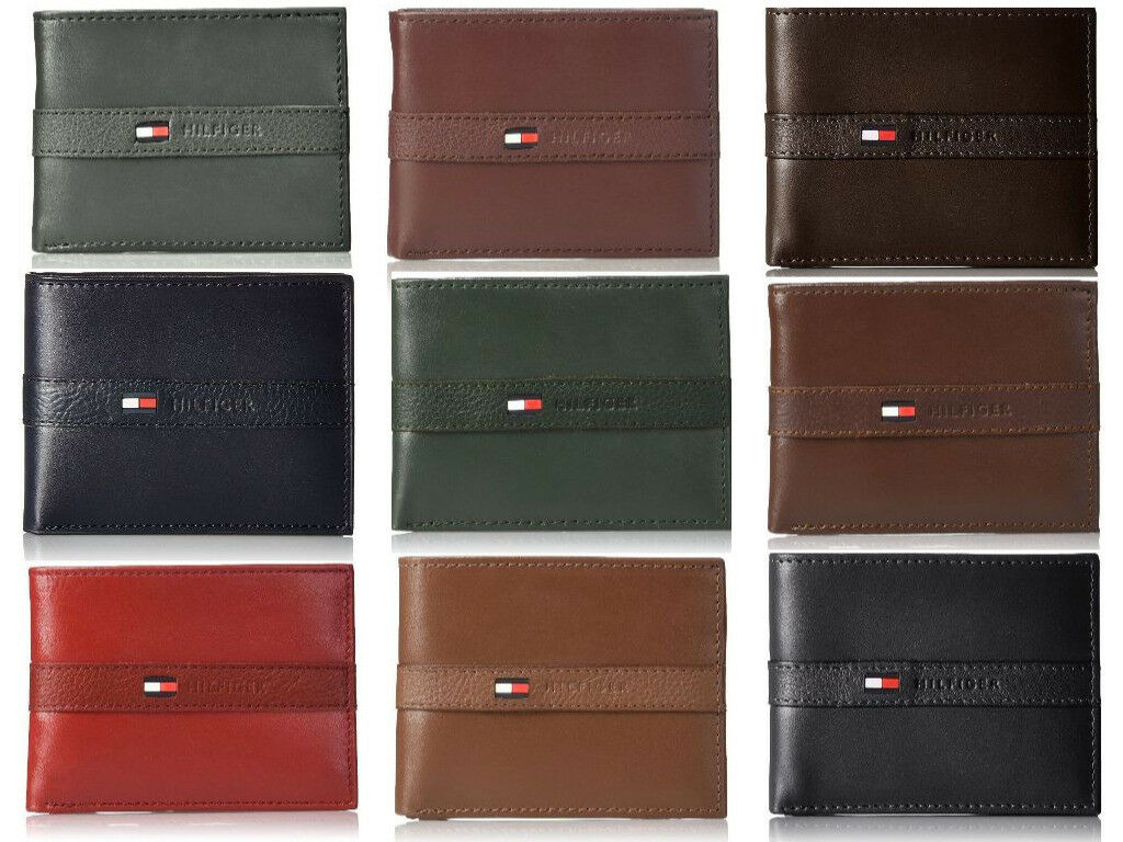 Nautica Men/'s Bifold Genuine Leather Credit Card ID Passcase Wallet 31NU22X024