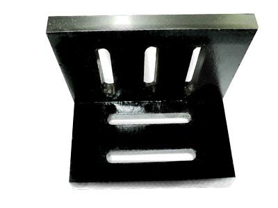 New Precision Ground Slotted Caste Iron Angle Plate 7 X 5.5 X 4.5 Inches