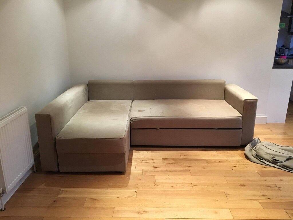 Friheten Double Bed Grey Sofa Price To Be Negociated In Brixton