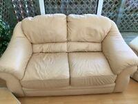 2 Seater Leather Sofa. Tan colour