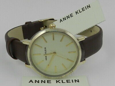 Anne Klein Women's  Brown  Leather Strap Watch  AK/3006CHBN