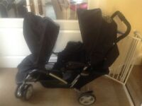 DOUBLE BUGGY, Graco Tandem black. EXCELLENT Condition. £120 ONO.