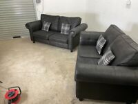 Charcoal dfs 3&2 seater sofas, couches, furniture 🚚🚚🚛