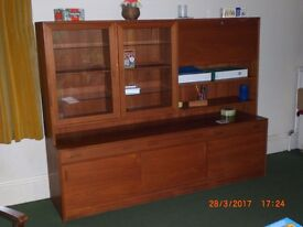 Retro Teak wall unit - Danish really nice Price reduced