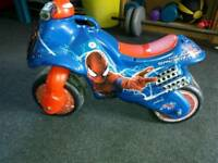 Spiderman foot to floor bike