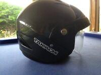 Takachi open face helmet grey