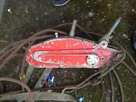 Tirfor winch and cable,