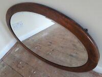 Vintage Dark Oak Mirror