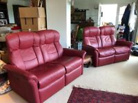 Matching suite of 2 leather sofas & 2 leather armchairs