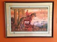 REDUCED PRICE RCMP Maintaining The Right Framed Print