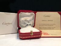 Cartier 'Love' ring, 18ct White Gold, 1 diamond, original certificate and ring box