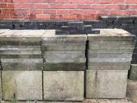 Grey paving blocks