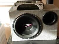 """12"""" AUDIOBAN SUBWOOFER AND JBL AMP"""