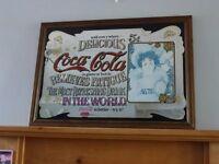 COCA COLA, Vintage Style Pub Advertising Mirror