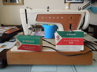 Singer 239 sewing machine, believed to be from 60's with hard case and original manual