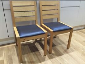 New 'Marks and Spencer' 2 x Sonoma Oak Chairs