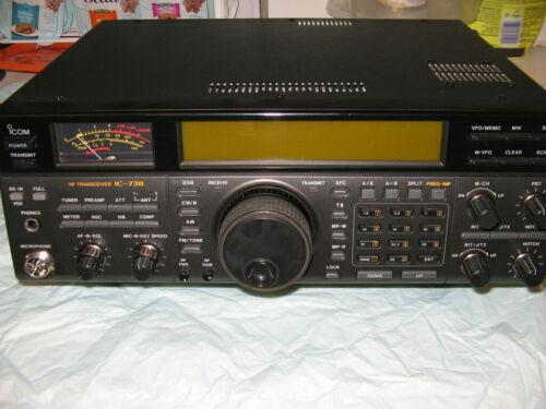 ICOM IC-738 HF 160-10M ATU PBT NOTCH SSB CW AM FM TRANSCEIVER