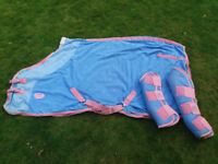 Horse item clearout. Travel set/stable rug/saddle/neck covers/flyrug/travel boots etc
