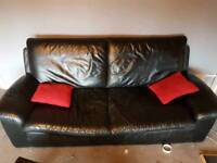 Leather str Sofa