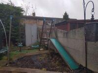 FREE large garden playset swing slide etc