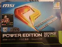 MSI geforce GTX 660ti 2GB Graphics Card