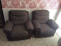 2 Armchairs and 1 two seater sofa