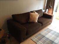 2 x Two seater sofas (1 sofa with futon)