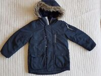 Boys NEXT Navy Blue Winter Coat age 5 years