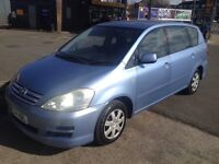 TOYOTA,AVENSIS,VERSO,T3,7SEATER,LPG,2004,MPV,BLUE