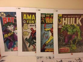 Spider man, Hulk, Iron man & Batman - set of 4 Wall Art Prints / Posters - NEW & SEALED