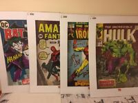 Spider man, Hulk, Iron man & Batman - set of 4 Wall Art Prints / Posters - NEW & SEALED