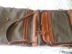Genuine Coach brand Suit Carrier / Garment Bag tan leather