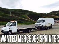 Mercedes Benz sprinter 310d 312d 412d wanted
