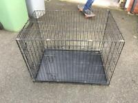 Medium size metal dog crate