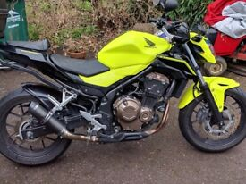 Honda CB500 FA 2016 Yellow Motorcycle *Service History* A2 License Motorbike