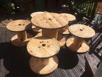 Cable drum patio set