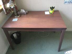 Brown student desk very sturdy, 120cm x 75cm, like ikea