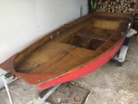 Rowing boat with trailer