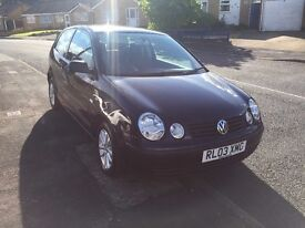 Black VW Polo 3 door 1.2 Petrol with MOT till feb. Serviced 5 months ago £1200